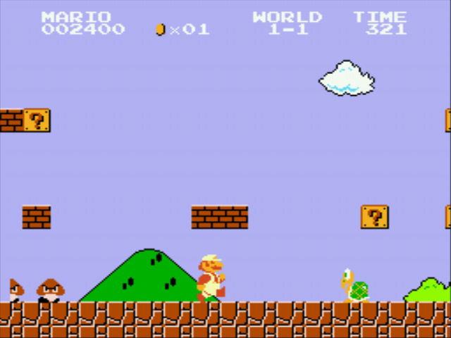 Play the Classic Super Mario.