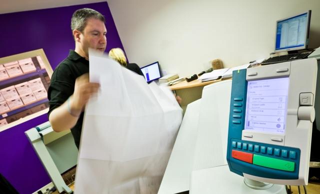 Scanning large sized documents